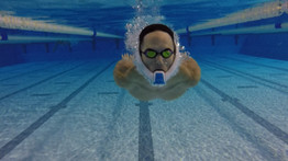 Testing new type of snorkel from the company Powerbreather, Tenerife