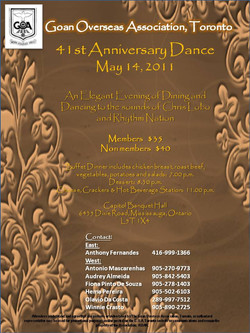 Rhythm Nation - Goan Overseas Association 41st Anniversary May 14 2011