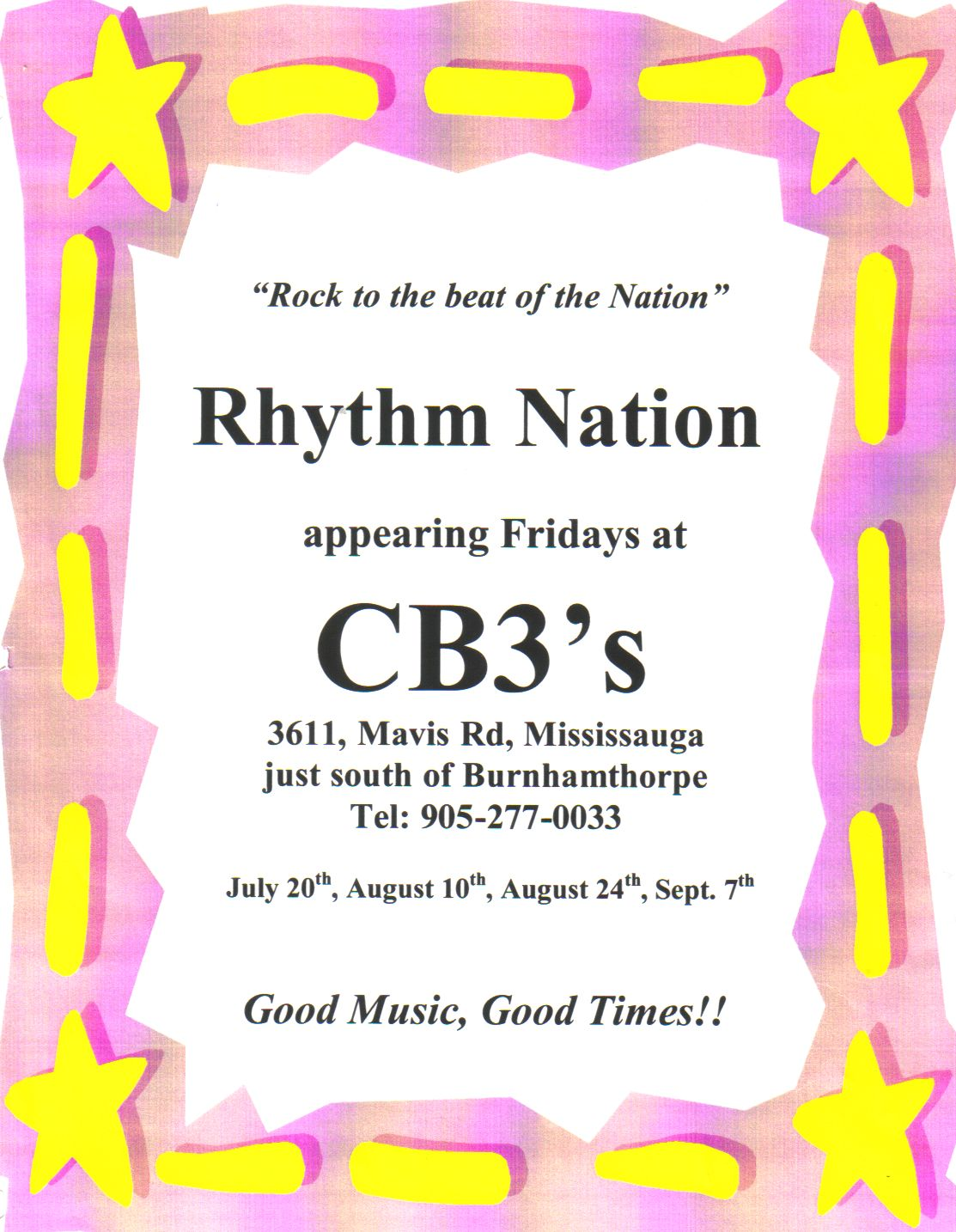 Rhythm Nation - CB3's
