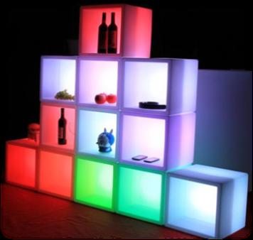 Le cube pour glacière ou étagère
