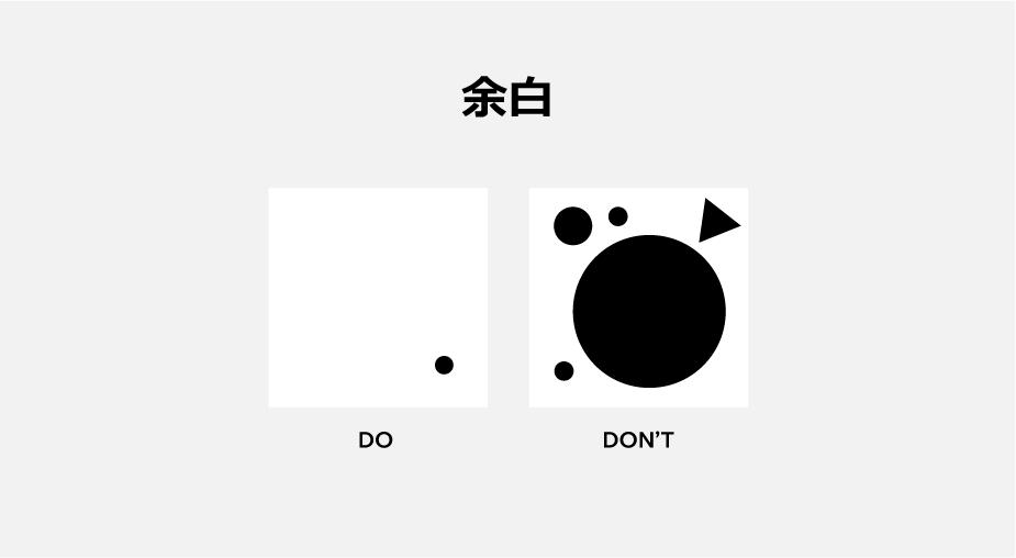 Webデザインの原則のホワイトスペース