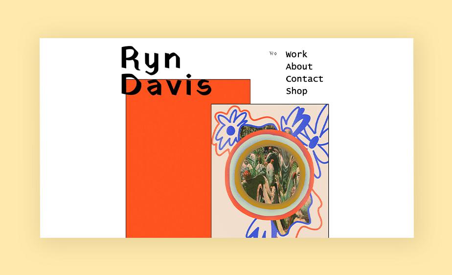 非対称レイアウトを使用したRunDavisのホームページ