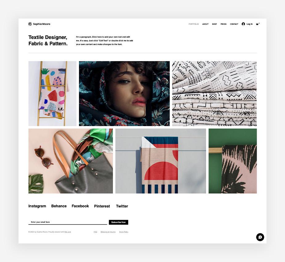 フリーランスホームページのトップページデザイン