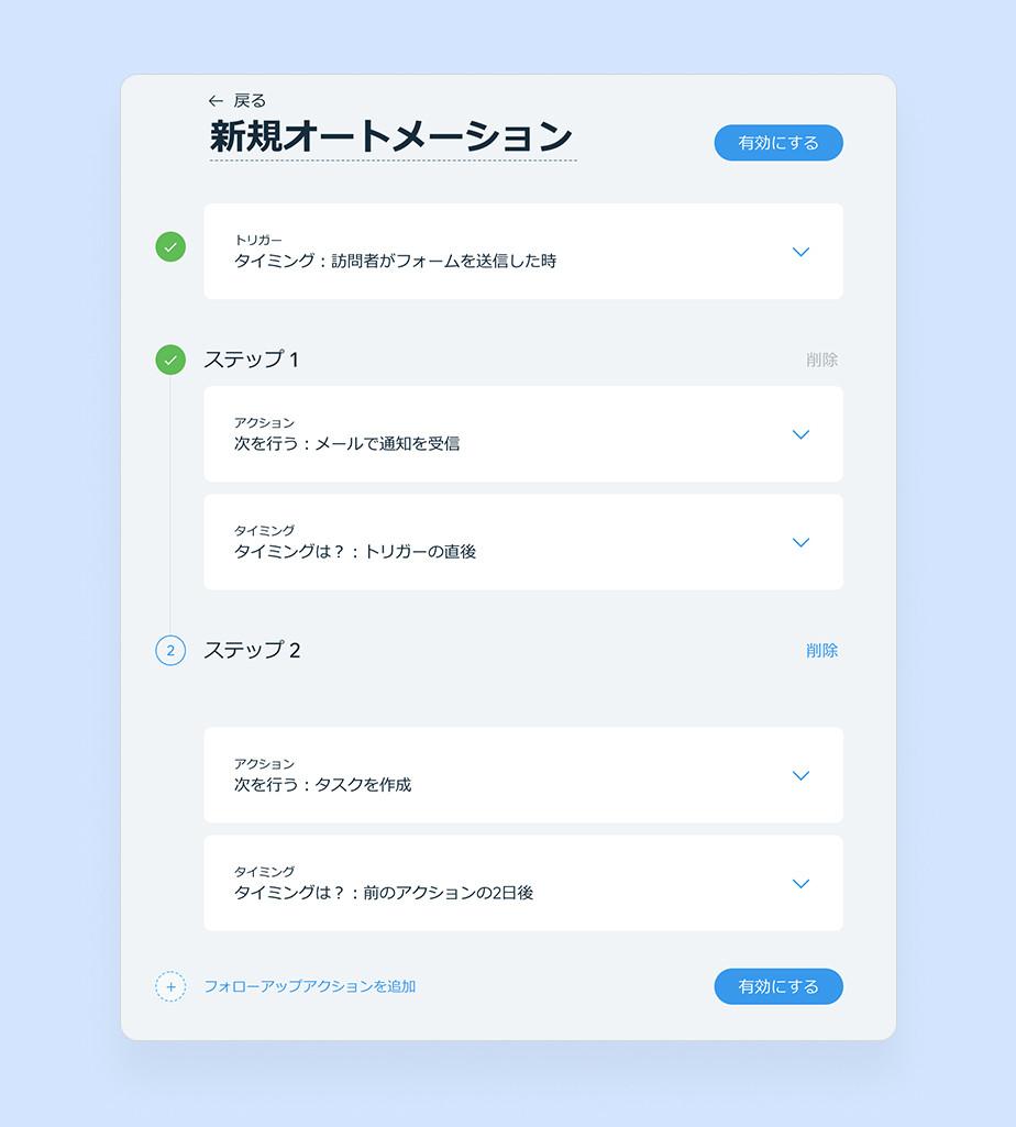 Wix Ascendビジネスツールのオートメーション機能