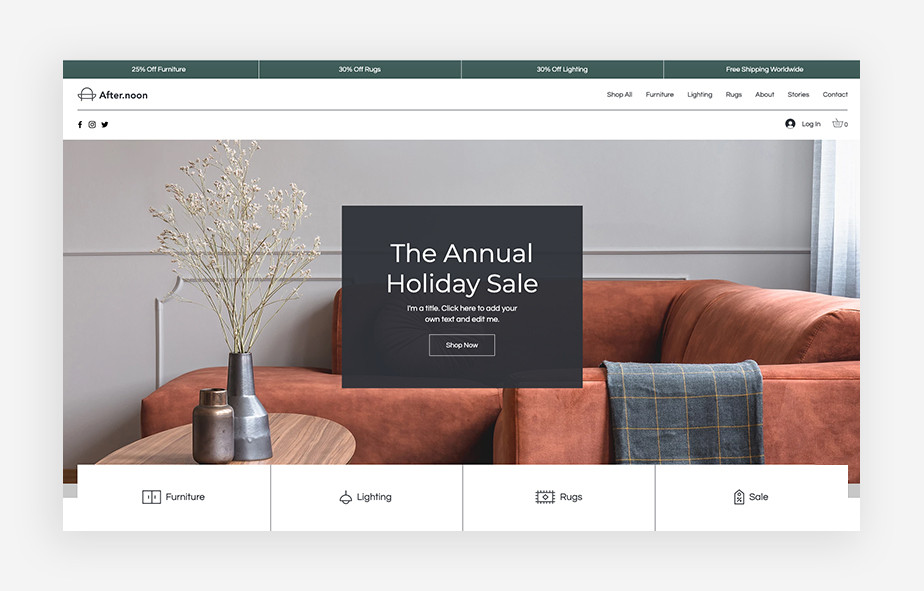 家具背景のサイトのWebサイトヘッダー