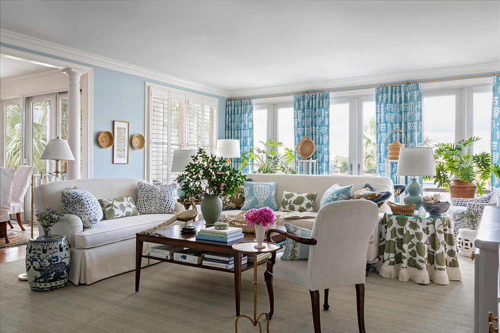 Isle of Palms living room interior design by J.P. Horton