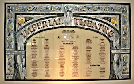 Imperial Theatre Donor Wall, 10ft. x 6ft. Saint John, New Brunswick, Canada