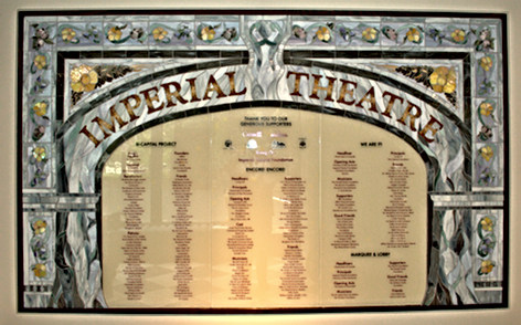 Imperial Theatre Donor Wall, 10ft. x 6ft. Saint John, New Brunswick, Canada