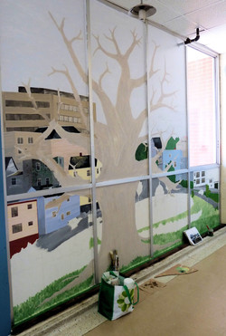 SJECC Tree Mural process photo end of March2012-min