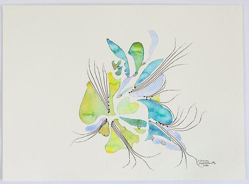Meditation#6 - 11x17 Watercolour on paper