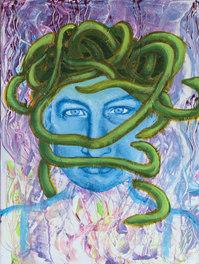 Medusa of Revenge - 17x12 acrylic 2020.j