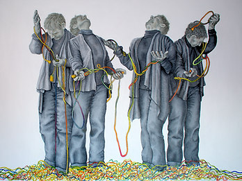 Wired 30 x 40 inches acrylic on canvas 2