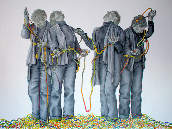 Wired 30 x 40 inches acrylic on canvas 2020  Sheryl Crowley.jpg