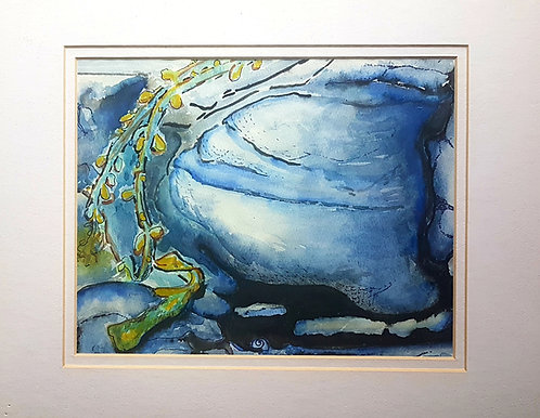 Tidal Pool  11x14inches , Water colour, framed