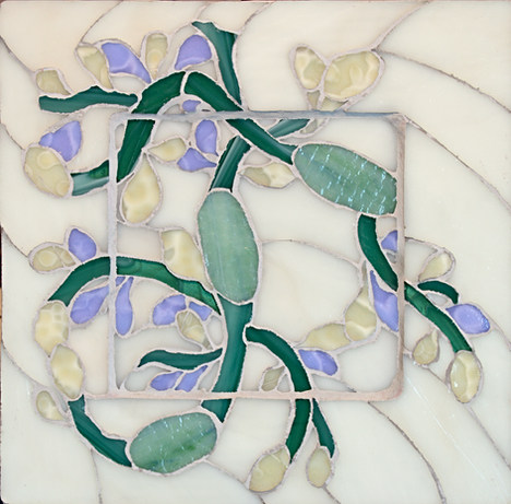 Seaweed#2- 11x11.25 inches stained glass