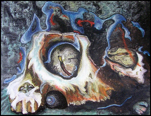 """Victoria Barnacles  8""""x10"""" soft pastel on paper"""
