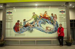 YMCA Mural & me too 8 x 12 stained glass on glass 2015 Nikon shots lower pixels
