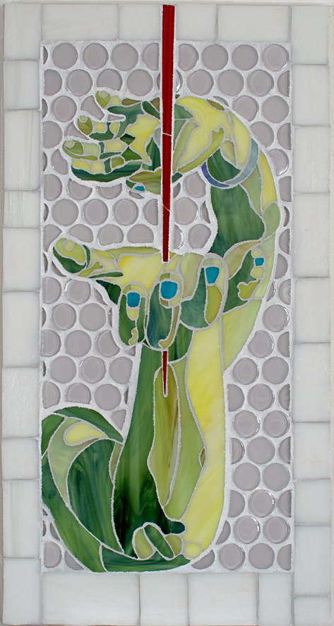 Impervious-stained glass mosaic 21 x 11.