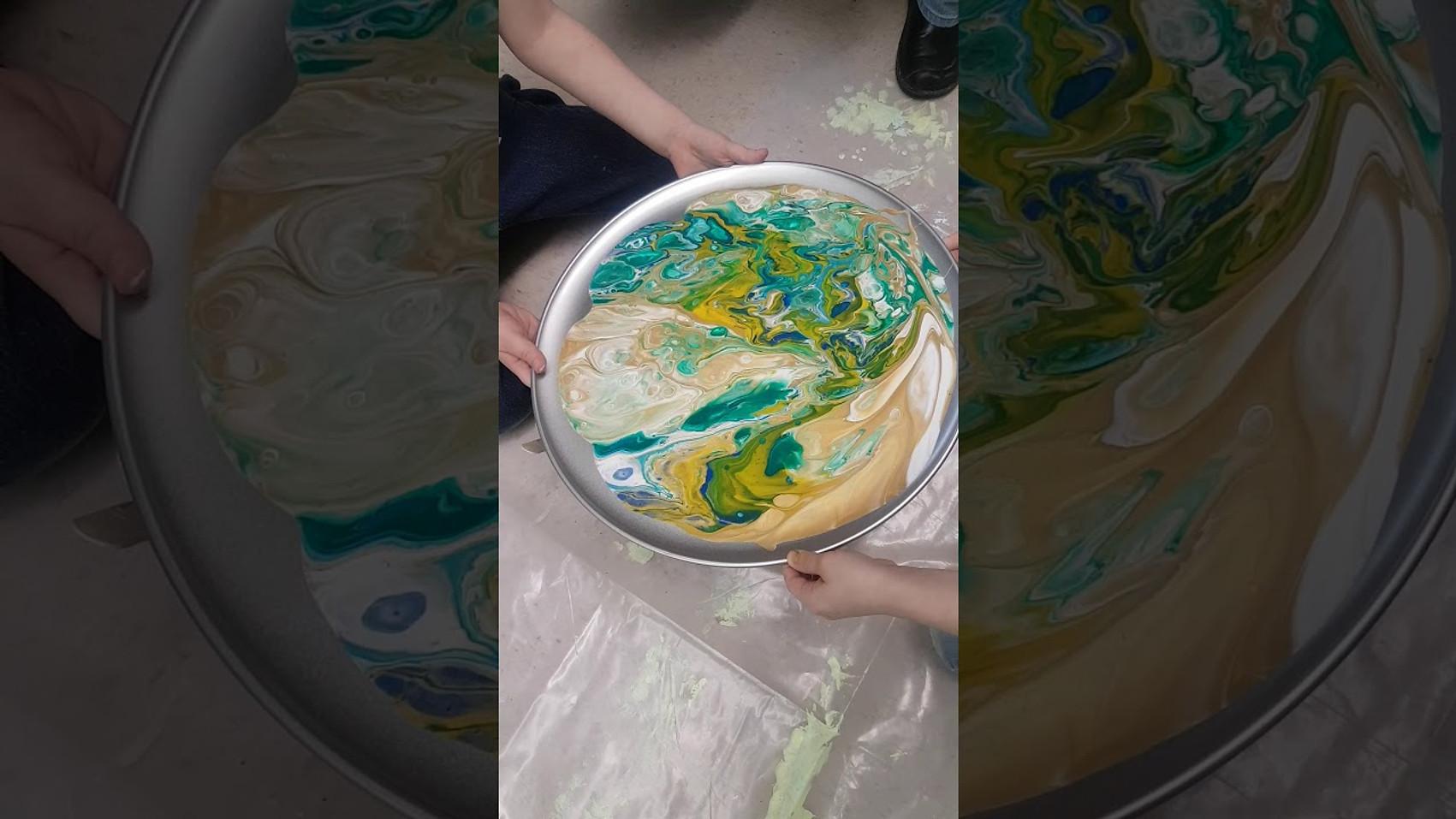 Acrylic Pour trials