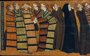 Criers-Mourners  early Castilian Gothic Style c.1295 in National Museum of Catalunya