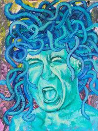 Medusa of Vengeance - 17x12 acrylic 2020