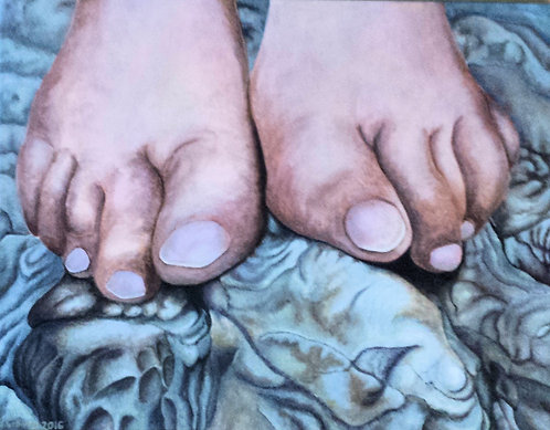 "LaHave Toes  18""x14"" Acrylic on canvas"