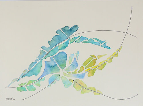 Meditation#7 - 11x17 Watercolour on paper