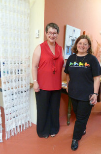 Deborah Payne and Sheryl Crowley at the opening of Insight of the Bright Particulars
