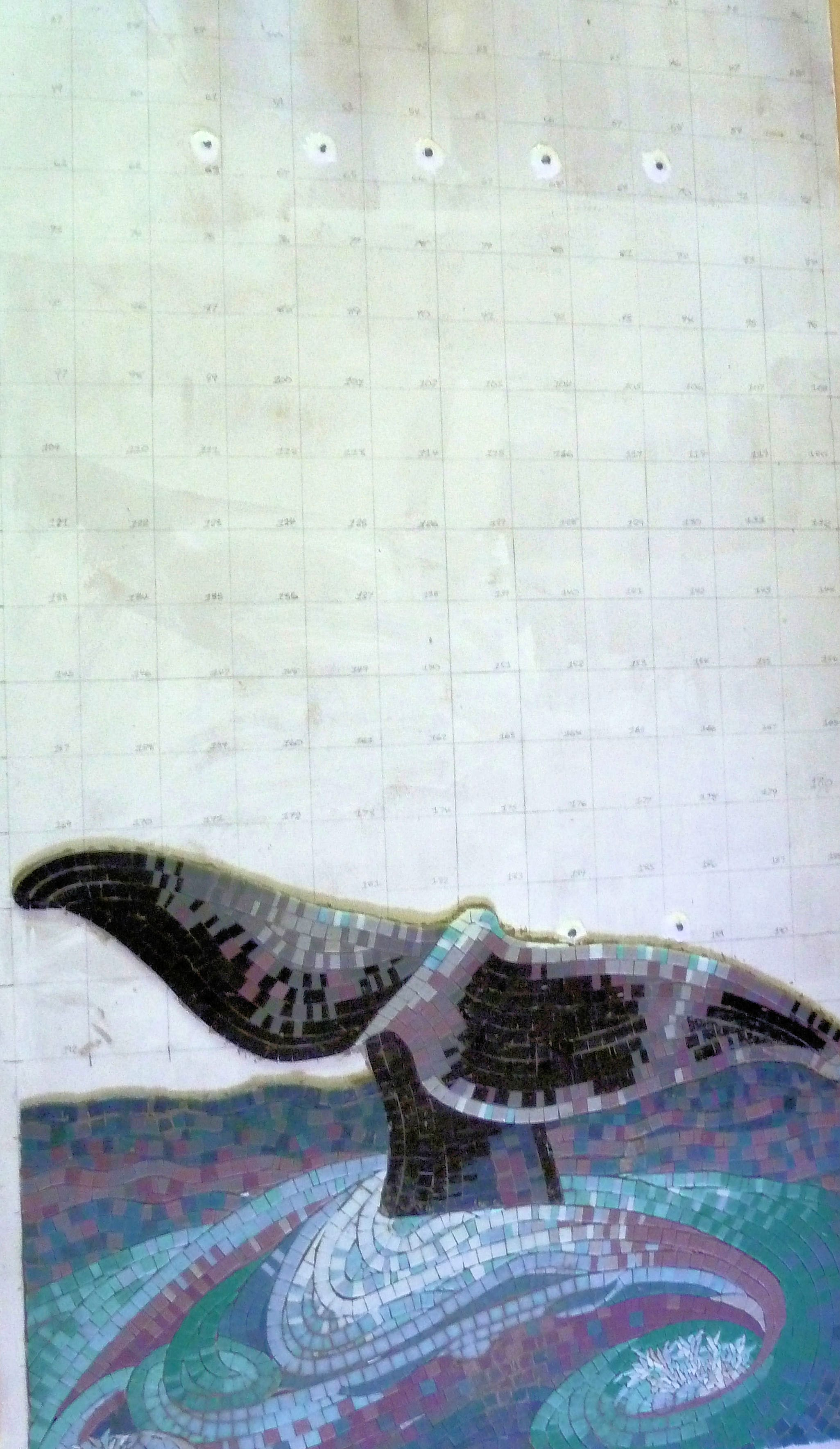 Mortared and gridded Mosaic to Board-Legacy Project May 2012 (1)-min