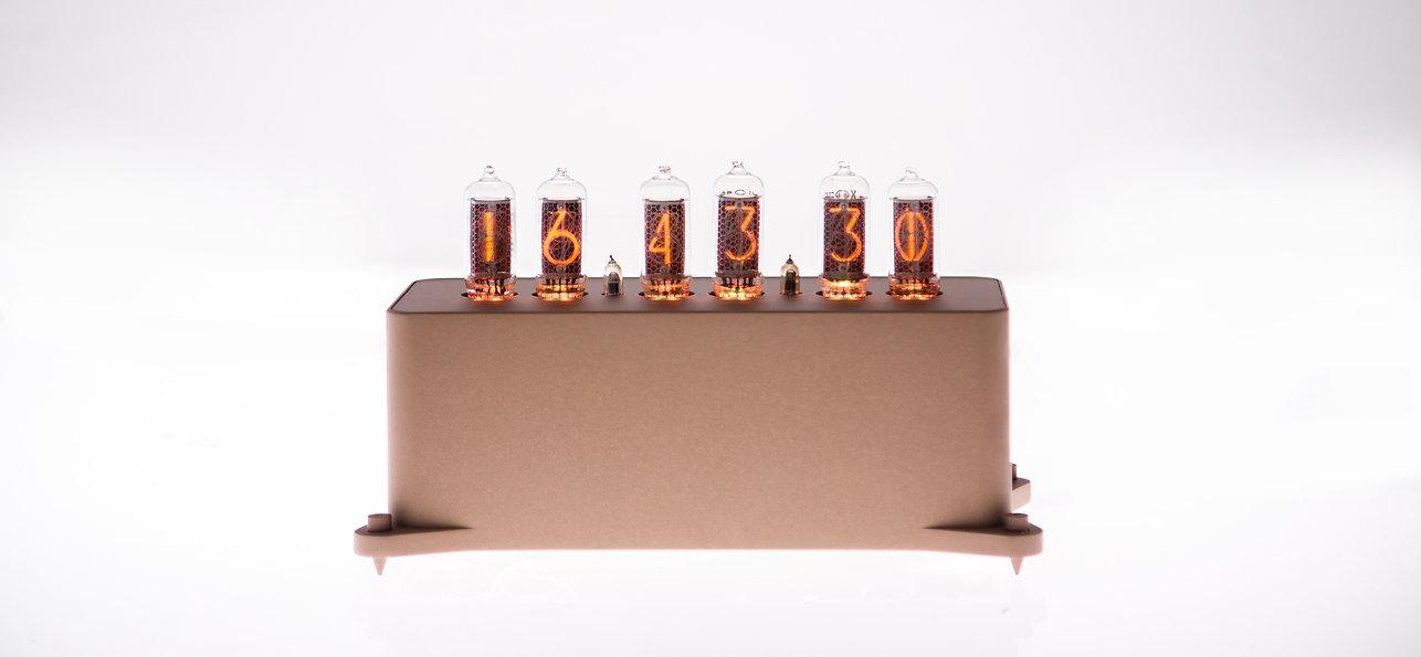 Дизайнерские ламповые часы VacuumGlow Levitation Deluxe