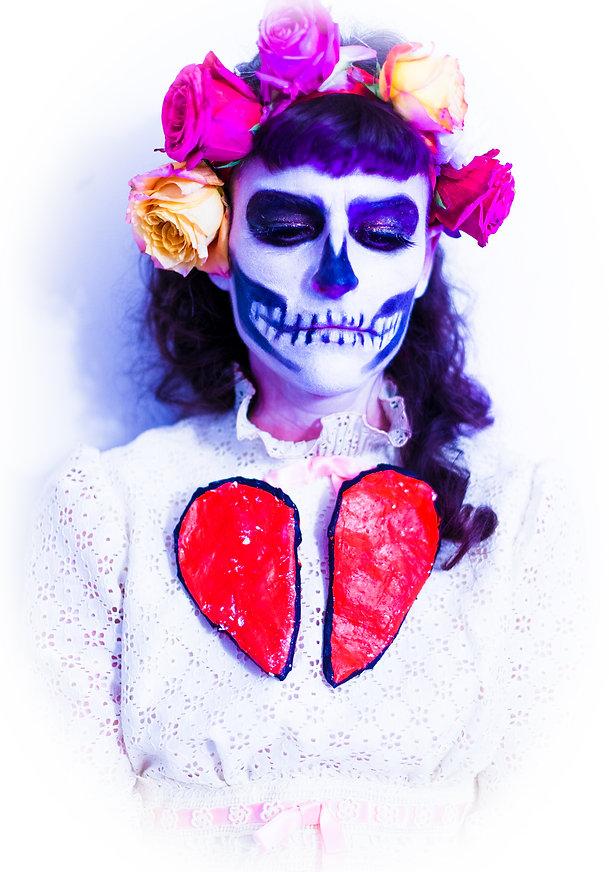 self-portrait: as Santa Muerte