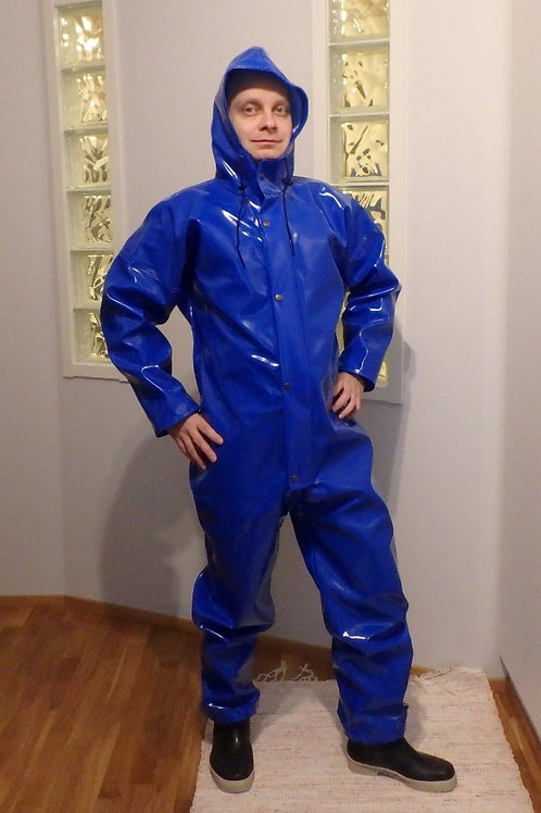 Fluo blue extreme coverall M/52, L/54, 4XL/62