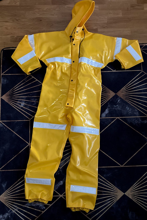Yellow Extreme Coverall with Reflectors size, XS/48