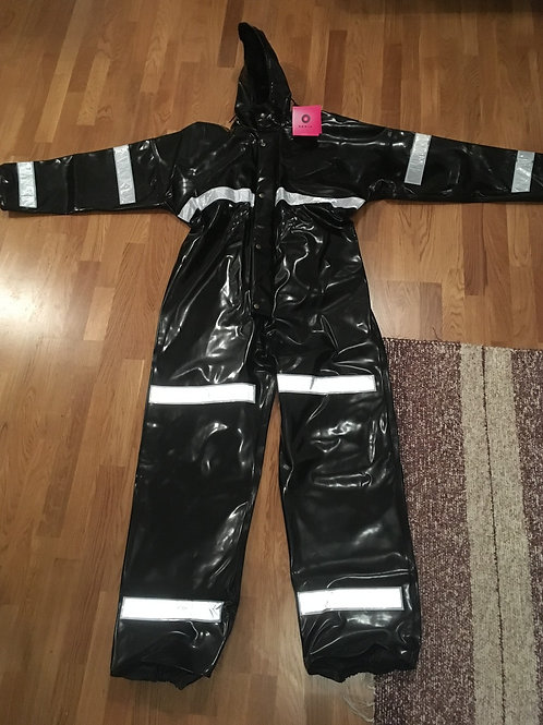 Black extreme coverall with reflectors size 56