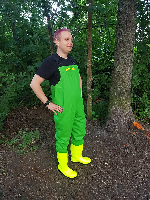 Colourful chest waders
