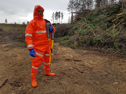 Extreme Drainage Coverall with Reflectors