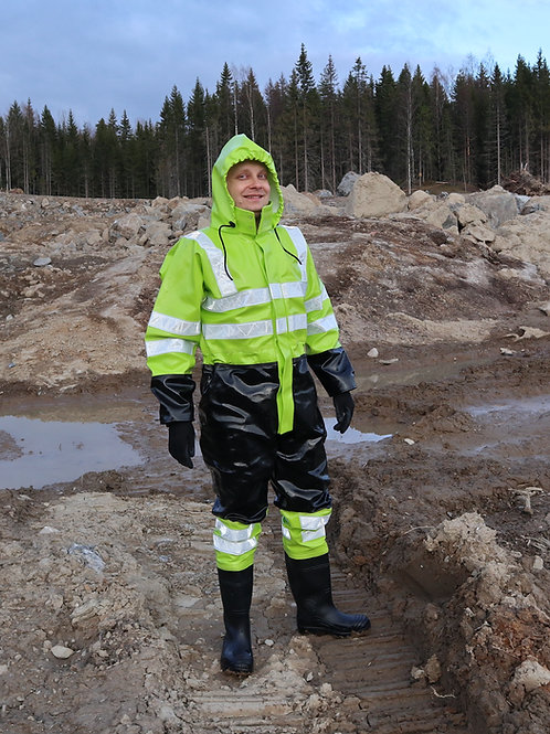 Extreme Two Colour Coverall with Boots and optional Gloves