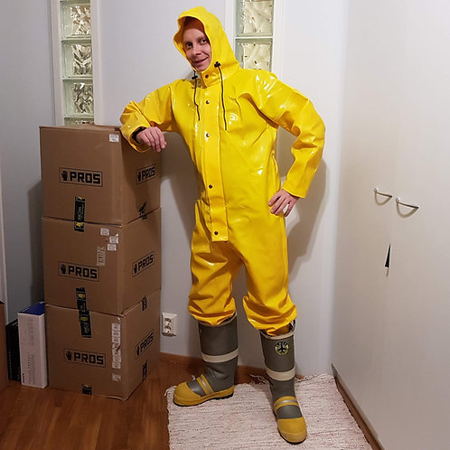 Yellow extreme coverall size 54