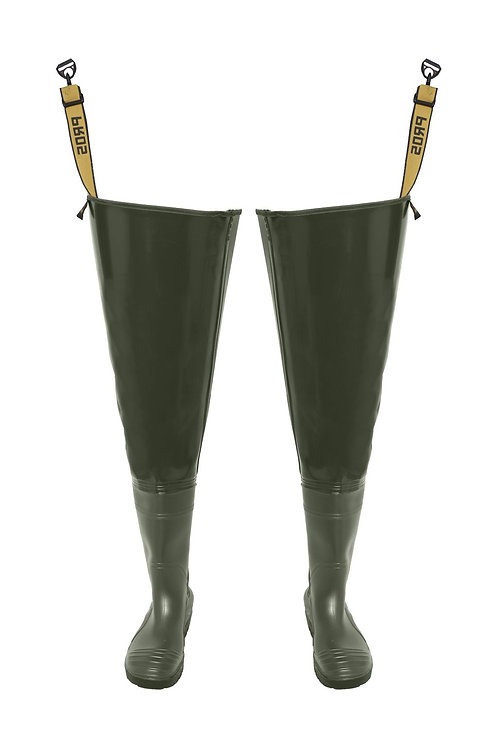 Matte Heavy Thigh Waders, size 42