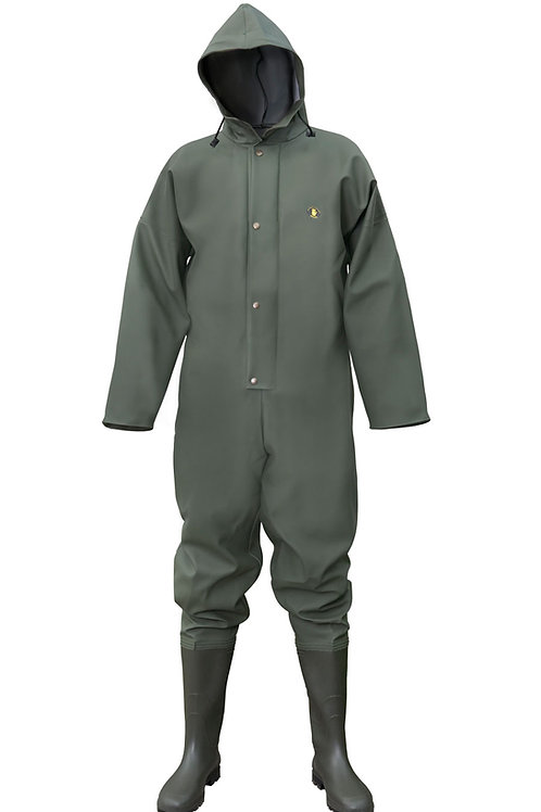 Coverall with boots