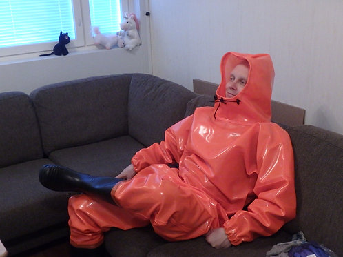 FL-Orange Extreme Drainage Coverall XS/48 with 43 boots