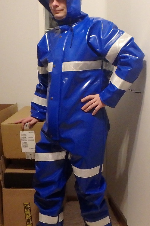 Blue Extreme Coverall with Reflectors, size L/54