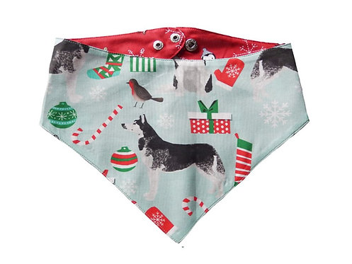 Bandana Christmas Husky