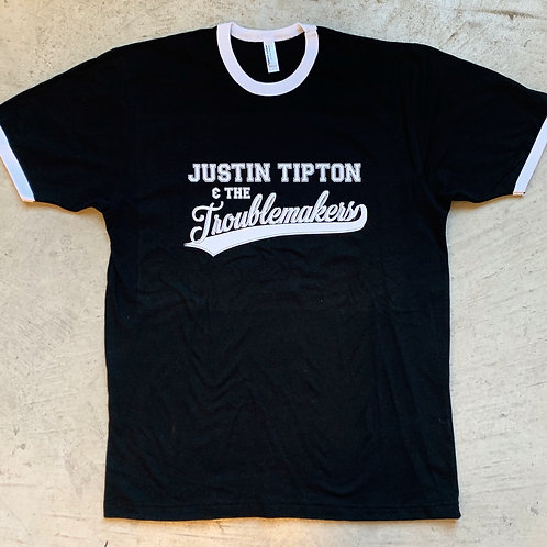 """""""Justin Tipton & The Troublemakers"""" Baseball Tee"""