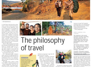 Travellers' University featured on 'The Hindu'