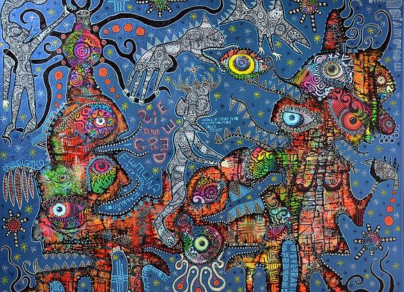 'Greedies of the Multiverse' Giclee print 48cm x 40cm