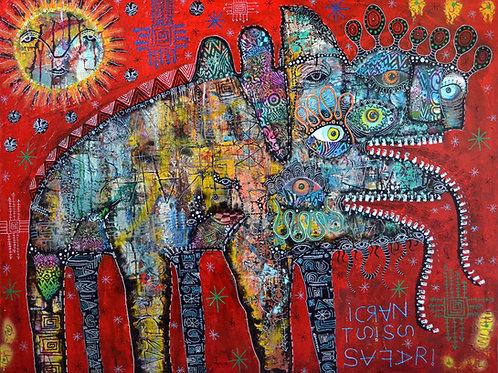 'Narcissist safari' Giclee print 48cm x 40cm