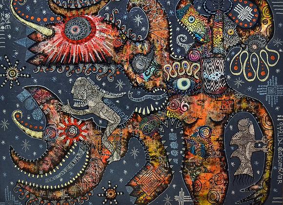 'Observer of the egoic self' giclee print 48cm x 40cm