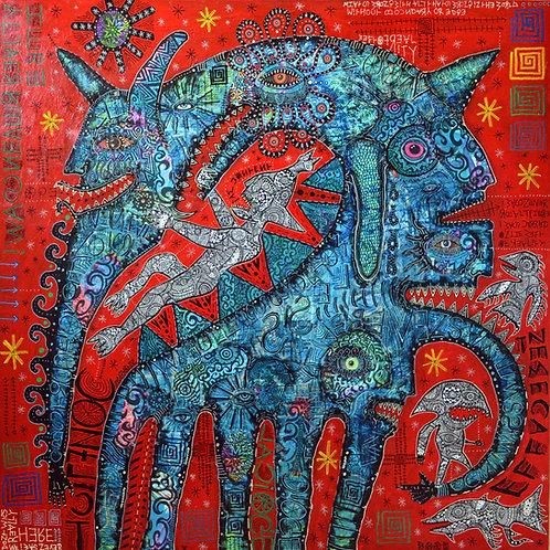 'Conflict effacement' giclee print 40cm x 40cm