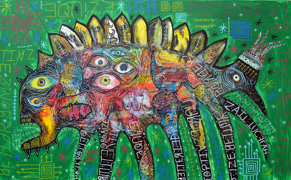 I am the least of your problems - mixed media on canvas 120cm x 80cm